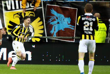 Milot Rashica during the Dutch Eredivisie match between Vitesse and Heracles Almelo at the Gelredome on april 16, 2016 in Arnhem, the Netherlands Vitesse v Heracles Almelo Dutch Eredivisie 2015/2016 xVIxBroerxvanxdenxBoomxIVx PUBLICATIONxINxGERxSUIxAUTxHUNxPOLxJPNxONLY 5325502 Milot Rashica during The Dutch Eredivisie Match between Vitesse and Heracles Almelo AT The Gelredome ON April 16 2016 in Arnhem The Netherlands Vitesse v Heracles Almelo Dutch Eredivisie 2015 2016 xVIxBroerxvanxdenxBoomxIVx PUBLICATIONxINxGERxSUIxAUTxHUNxPOLxJPNxONLY